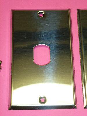 Nos! (2) Bell Interchange 1-Gang Chrome Finish Wall Plate, Vertical, 1-Hole 2