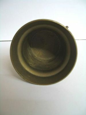201) Alter MESSING Mörser mit Stößel & Griffen Metall 1825 Massiv 578g ca.10cm