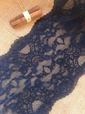 """/""""Laces Galore/"""" ~Dusky Blue Wide Stretch Lace Trim  21 cm Lingerie Table Runner"""