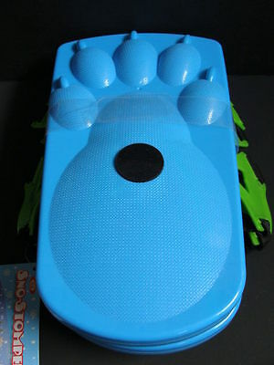 NEW Ideal Sno-Stompers Kids Bear Claw Print Snow Shoes Stompers Sand Tracks Blue