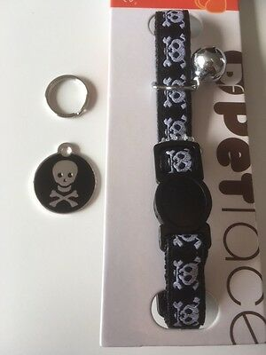 Skull and Crossbones Engraved Cat / Dog / Pet ID Name Tag - Different Sizes 2