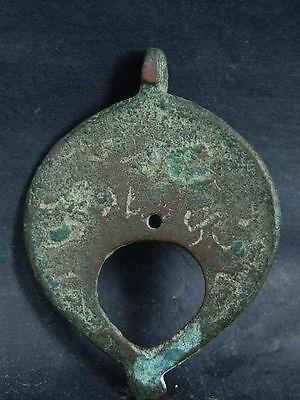Ancient Bronze Pendant Islamic 1000 AD #B1048 6