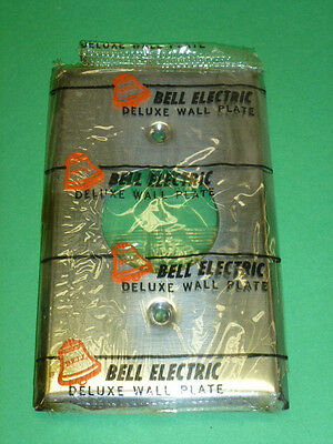 Nos! (2) Bell 1-Gang Single Receptacle Chrome Finish Wall Plate, Cat No. 13-1-C 2