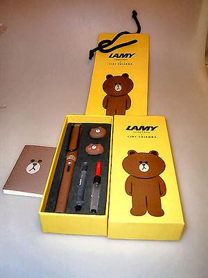 LAMY Safari Füllhalter für Südkorea: Line Friends: BRAUN! Geschenketui 2
