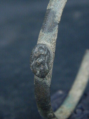 Ancient Bronze Bracelet With Seal Bactrian 300 BC  #SG4755 3