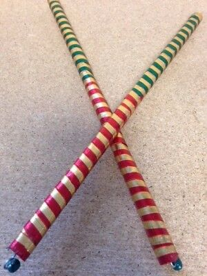 Dandiya Sticks Colourful  Pair of Wooden Sticks  Navratri Dandiya Raas Garba