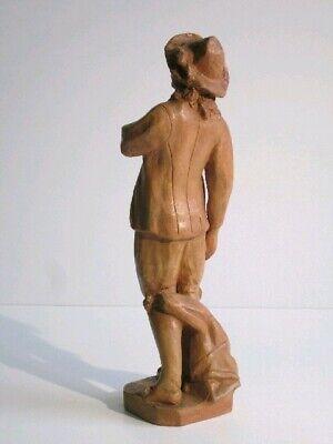 Estatua de Terracota Figura Manzoni Escultura Renzo Altura 46CM 4