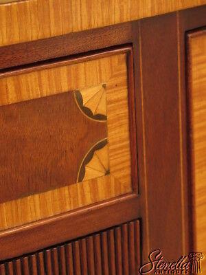 23700E: KITTINGER 1/2 Round Inlaid Mahogany Sideboard w. Satinwood Inlay 7