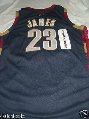 ... Authentic Lebron James Cleveland Cavaliers Jersey 52 SEWN Adidas NBA  Alternate 2 ff6d017d8