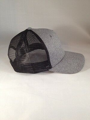 345db4461552be ... Justin Bieber Trucker Hat Black Grey Snap Back Style New Blank Cap Mesh  Back 6