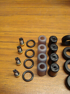 Toyota Corolla MR2 4AGE 4AGELC Fuel Injector O-ring Seal Filter /& Pintle Cap Kit