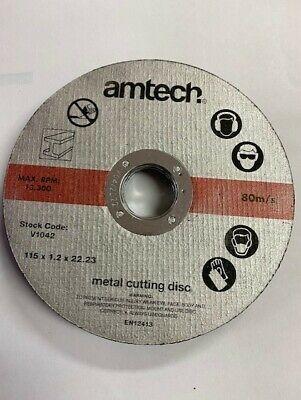 Am-Tech 3x Professional 115mm x 3mm Thin Stone Cutting Disc Depressed Centre