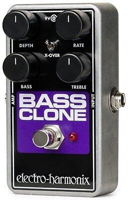 New Electro-Harmonix EHX Bass Clone Bass Chorus Effects Pedal! 2