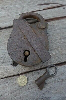 Antique Padlock with one working key 2