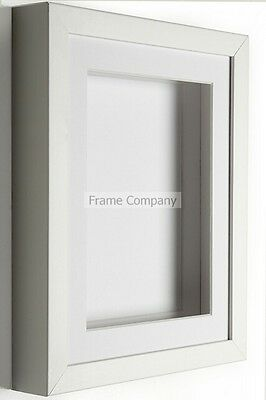 Black Or White Wooden Picture Photo 3d Box Frames With Mounts By