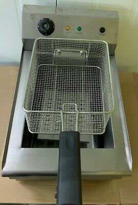 Commercial Large Chip Fryer 19 Litre tank  Electric Single Basket Deep Fat Fryer 8