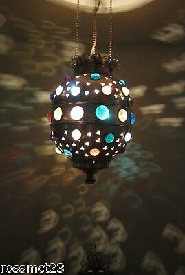 Vintage Lighting bejeweled Moroccan style pendant 3