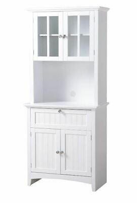Kitchen Hutch Buffet Bar Table Small China Cabinet Storage Pantry Drawers White Home Garden Cabinets Cupboards