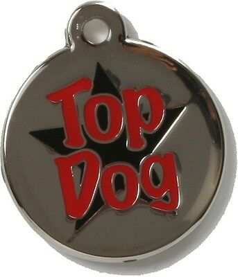 Bow Wow Pet Tag Dog Cat ID Laser Engraved - Top Dog