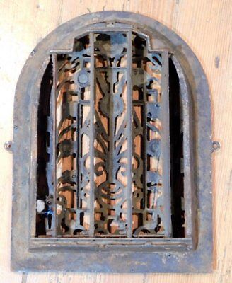 Antique Cast Iron Floral Grate - Vent AWESOME - Tombstone 3