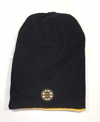 f07bb49925d404 ... Boston Bruins Knit Beanie Toque Winter Hat Skull Cap New Reversible  Long Tall 3