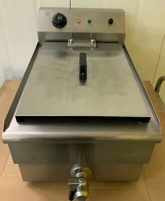 Commercial Large Chip Fryer 19 Litre tank  Electric Single Basket Deep Fat Fryer 7