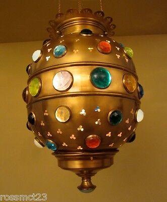 Vintage Lighting bejeweled Moroccan style pendant 2