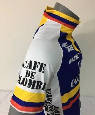 COLOMBIA BIKE JERSEY CAFE RETRO BIKES SHIRT SIZE L COOL COLUMBIAN CLIMBER JERSEY