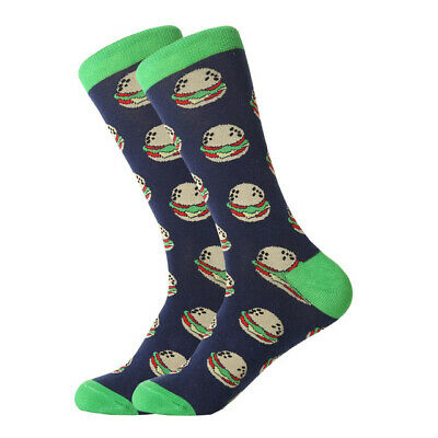 Mens Cotton Socks Novelty Animal Fruit Colorful Funny Casual Dress Wedding Socks 4