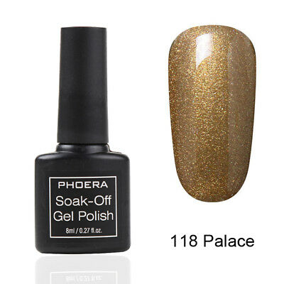 PHOERA® Nail Gel Polish Soak Off UV LED Colour Manicure Base Top Coat Nail Art 9