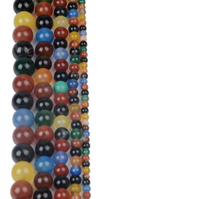 4 6 8 10mm Lot Bulk Natural Stone Lava Loose Beads DIY Bracelet Jewelry Necklace 6