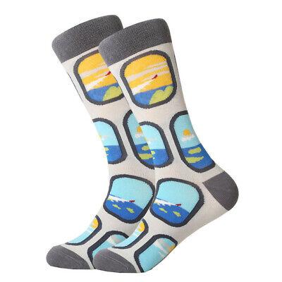 Mens Cotton Socks Novelty Animal Fruit Colorful Funny Casual Dress Wedding Socks 9
