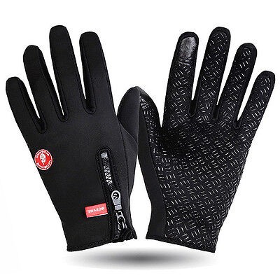 Wasserdicht Thermo Winter Handschuhe Finger Touch klappbar Sport Warm Gloves -DE 5