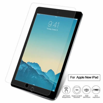 Genuine 100% Tempered Glass Screen Protector Cover for New Apple iPad 9.7 (2018) 4
