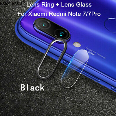 For Xiaomi Redmi Note 7 Camera Lens Protector Case Metal Ring Cover +Glass Film 4