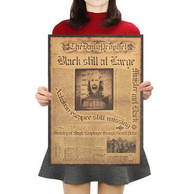 Harry Potter Poster Vintage Film Classique Mural Peinture Tous les Jours Prophet 2