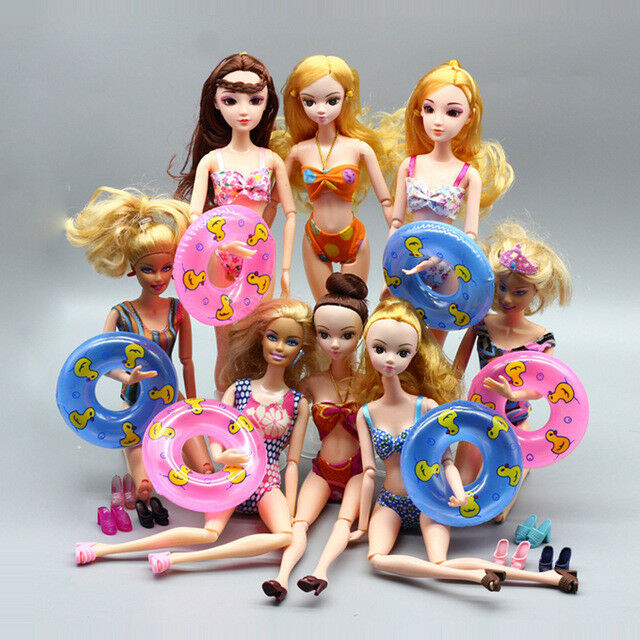 5 Sets Bikini Swimming Suit Beach Swimwear Clothes for Barbie Dolls Girls Gift 2