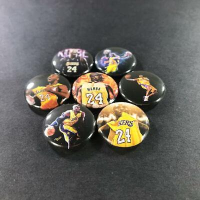 """Kobe Bryant 1"""" Button Pin Set (7 Pins) Lakers NBA Basketball Black Mamba Sports 3"""