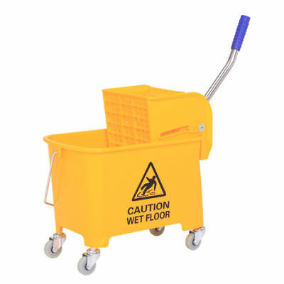Mini Press Commercial Mop Bucket  Wringer 20L 5 gal Yellow Commercial Combo