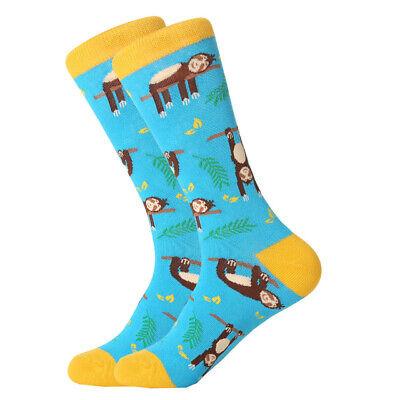 Mens Cotton Socks Novelty Animal Fruit Colorful Funny Casual Dress Wedding Socks 6