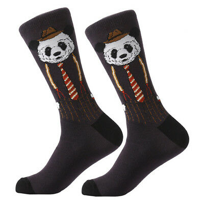 NEW Mens Combed Cotton Sock Animal Alien Panda Moustache Novelty Casual Sock SOX 2