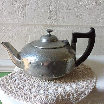 Arts & Crafts Pewter Tea Set A.Milns & Co Sheffield England 1920s 2