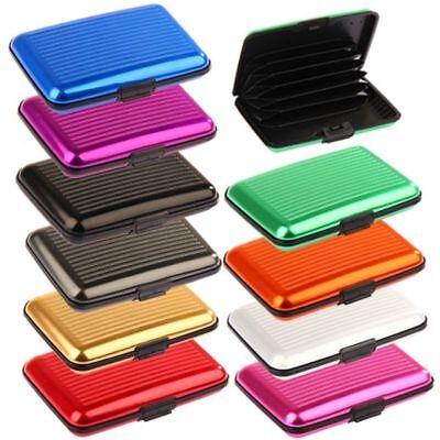 8c96e81f41 ... Porta Carte Di Credito Rigido In Alluminio Impermeabile Tessere Card  Bancomat 2