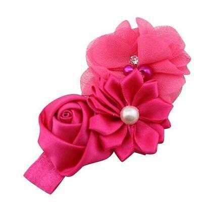 Baby Girls Flower Hairband Soft Elastic Headband Gifts Hair Accessories Band 3