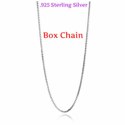 REAL Classic 925 Sterling Silver Chain Necklace SOLID SILVER 925 Jewelry Italy 5