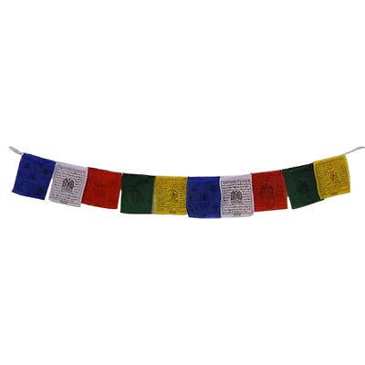 Tibetan Prayer Flags 10 Flags/Colours/5 Mantras-11 x 9 cm Peace & Good Will 2