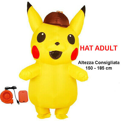 mascotte Pikachu professionale pokemon giallo adulti carnevale animazione feste