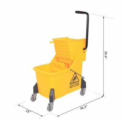 Large Size Mop Bucket With Side Press Wringer, 44 Quart , 11 Gallons Capacity