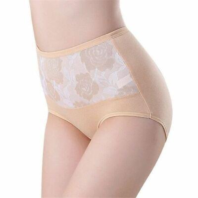 1 Pc Women High Waist Cotton Lace Briefs Sexy Healthy Panties Underwear Slimming 8