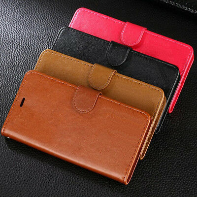 Huawei P20 & Pro Lite Leather Flip Card Holder Wallet Protective Hard Case Cover 2